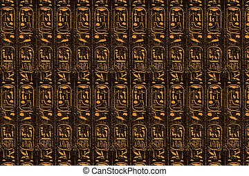 ブラウン, エジプト人, 定型, 象形文字, 背景, オレンジ