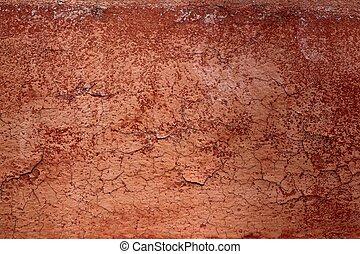 ブラウン, グランジ, 壁, パチパチという音, 手ざわり, 年を取った, 赤