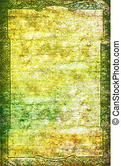 ブラウン, パターン, 型, 抽象的, frame:, 黄色, 背景, textured, 緑, 白, ボーダー, 背景