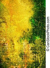 ブラウン, パターン, 抽象的, 黄色, オレンジ, 背景, textured, 緑, 背景