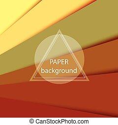ブラウン, ベクトル, 抽象的, ペーパー, 背景, sheets.