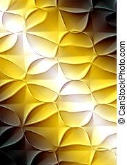ブラウン, 上げられた, 勾配, パターン, 抽象的, 黄色の背景