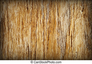 ブラウン, 割れる, 木, -, 腐った, 背景