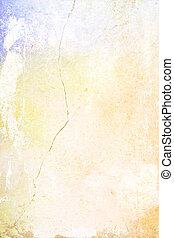 ブラウン, 古い, ぼろぼろ, 抽象的, 黄色, パターン, 青, 背景, textured, wall:, 背景, 赤
