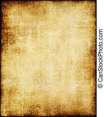 ブラウン, 古い, 型, 手ざわり, ペーパー, 黄色, 羊皮紙