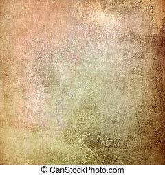 ブラウン, 古い, 抽象的, 手ざわり, 背景, グランジ