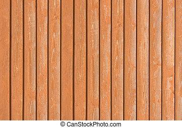 ブラウン, 古い, 赤味がかった, フェンス, 木製である, ライト, terracotta, 自然, 重なり合う, 木, 板, 背景 パターン, 終わり, 板, closeboard, 手ざわり