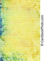 ブラウン, 古い, 青, 抽象的, 黄色, ぼろを着ている, パターン, 背景, textured, 緑, wall:, 背景
