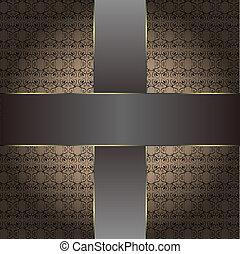 ブラウン, 型, 背景 パターン