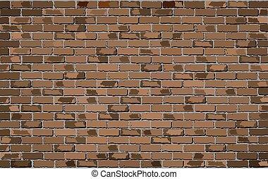 ブラウン, 壁, れんが