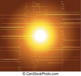 ブラウン, 技術, 黄色の背景