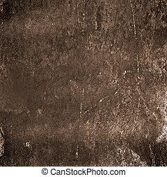 ブラウン, 抽象的, グランジ, 背景