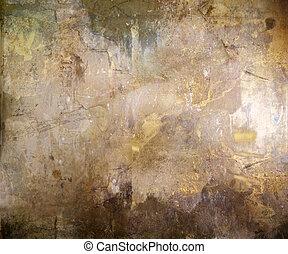ブラウン, 抽象的, グランジ, 背景, textured