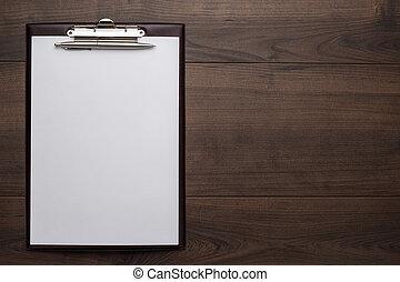ブラウン, 木製である, オフィス, テーブル, ∥で∥, メモ用紙