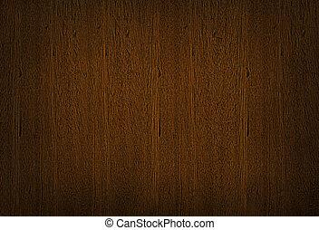 ブラウン, 木製である, 暗い, 木穀粒, 背景, 手ざわり