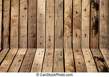 ブラウン, 木, 板, 壁, 手ざわり, 背景