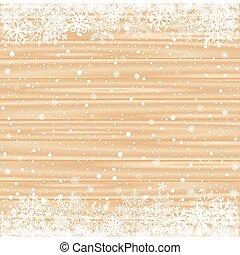 ブラウン, 木, 雪, 背景, ライト