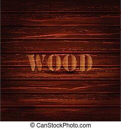 ブラウン, 木, text., ベクトル, 背景, texture.