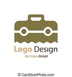 ブラウン, 色, 袋, ベクトル, デザイン, ロゴ