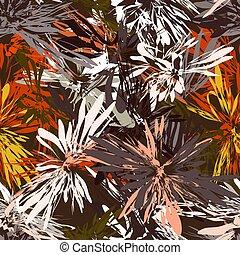 ブラウン, 要素, グランジ, パターン, seamless, ストライプ, 色, 背景, 放射状, 赤
