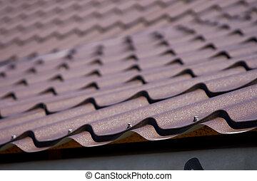 ブラウン, 金属, 屋根, 屋根ふき