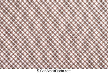 ブラウン, checkered, 生地