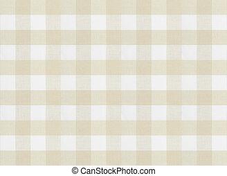 ブラウン, checkered, 生地, 手ざわり, テーブルクロス, ∥あるいは∥