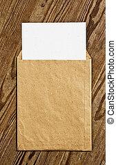ブラウン, envelope., 型
