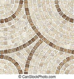 ブラウン, texture., モザイク, marble-stone