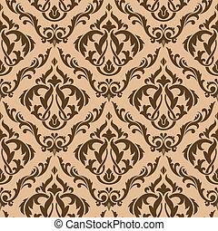ブラウン, tracery, seamless, パターン
