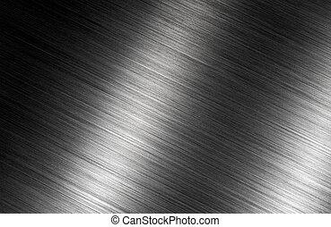 ブラシをかけられた金属, 暗い背景