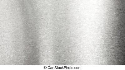 ブラシをかけられた金属, 背景