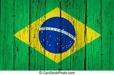 ブラジルの旗, 木, 背景