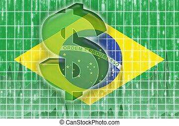 ブラジルの旗, 金融, 経済