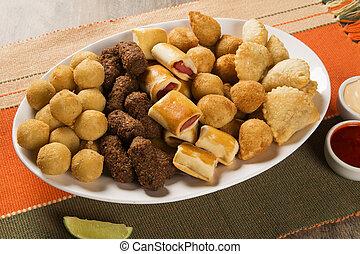 ブラジル人, 混ぜられた, snack.