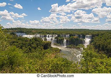 ブラジル, アルゼンチン, 滝, iguassu, 境を接すること