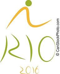 ブラジル, オリンピック, janeiro, de, リオ, ベクトル, ゲーム, テンプレート, デザイン, 2016