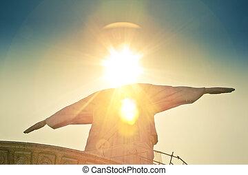 ブラジル, キリスト, 救助者, janeiro, de, リオ