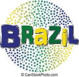 ブラジル, 世界, イメージ, 星, ロゴ