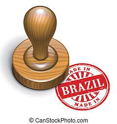 ブラジル, 切手, ゴム, 作られた, グランジ