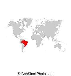 ブラジル, 地図, 世界