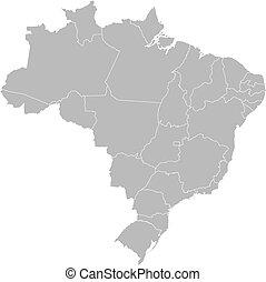 ブラジル, 地図