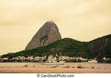 ブラジル, 山, janeiro, de, sugarloaf, リオ