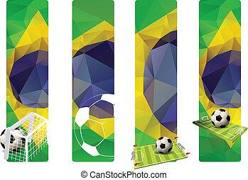 ブラジル, 色, 旗, 概念, セット