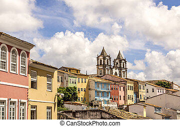 ブラジル, 都市, サルバドール, 植民地, 建築, bahia, 光景