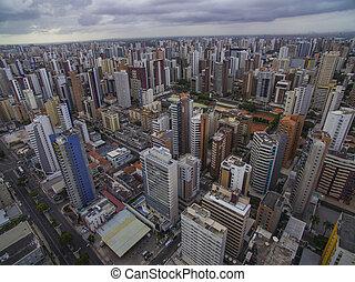 ブラジル, 都市, fortaleza, cear?, america., 光景, 南, aeria