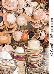 ブラジル, 革, 帽子, わら, 技能ストア