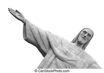 ブラジル, janeiro, キリスト, 救助者, de, リオ, 像
