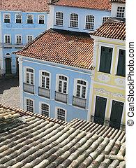 ブラジル, pelourinho., サルバドール, da, bahia., 光景