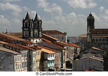 ブラジル, roofscape, pelourinho